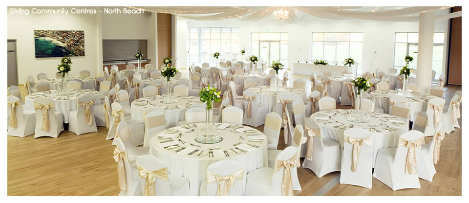 Wedding Room Decorations North East : Stirling community centres north beach wedding receptions